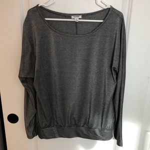 Old Navy Gray Shimmer Top